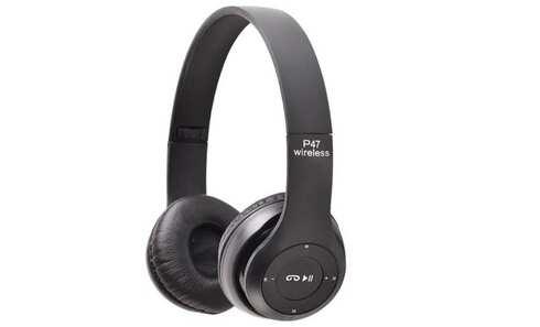 obrázek Bezdrátová sluchátka P47 černá