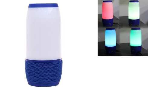 obrázek LED bluetooth reproduktor modrý