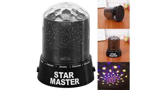 obrázok LED projektor s hviezdami