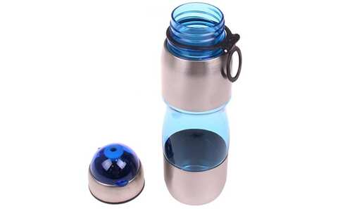 obrázok Fľaša na pitie s plastovým náustkom modrá