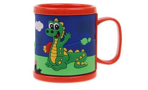obrázek Hrnek dětský plastový (oranžový s krokodýlem)