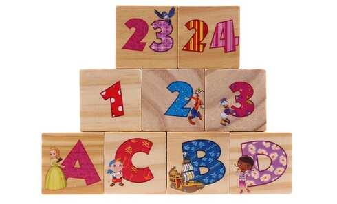 obrázek Dětské kostky s čísly a písmeny