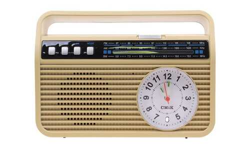 obrázek Přenosné retro rádio MK-190 žluté