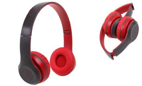 obrázek Hudební sluchátka P8047 červená