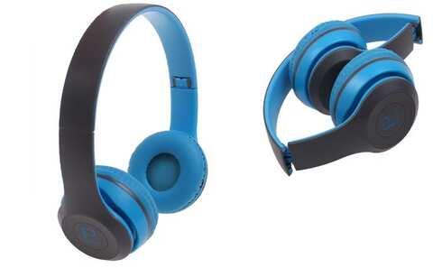 obrázok Hudobná slúchadlá P8047 modrá