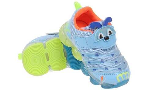 obrázok  Detské tenisky blikajúce svetlo modré (chrobáčik) vel.24