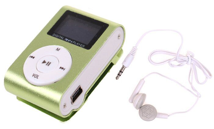 Mini MP3 přehrávač s displejem zelený