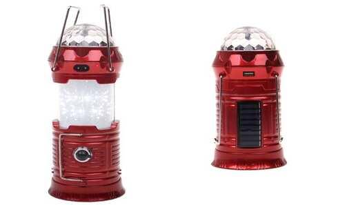 obrázek Multifunkční solární LED lucerna červená