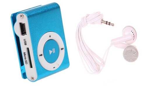 obrázek Kompaktní MP3 přehrávač modrý
