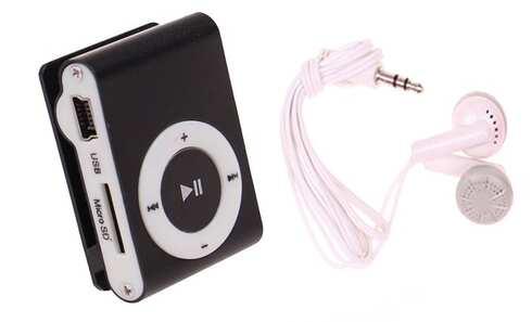 obrázek Kompaktní MP3 přehrávač černý