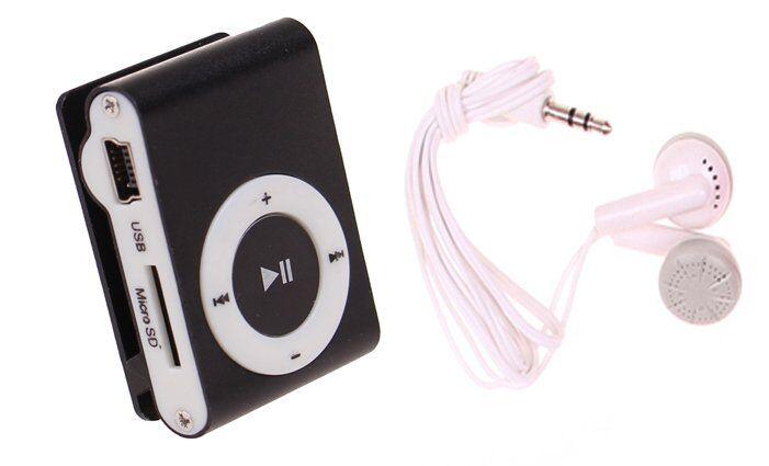 Kompaktní MP3 přehrávač černý