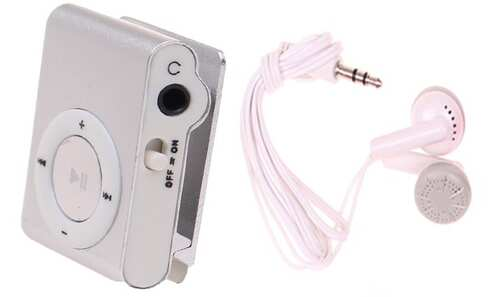 obrázek Kompaktní MP3 přehrávač stříbrný
