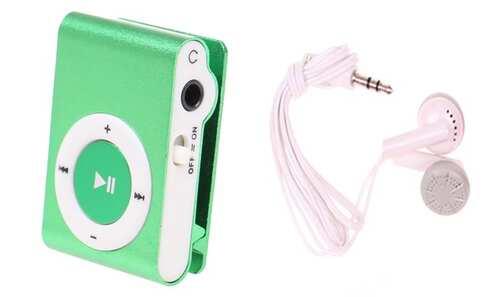 obrázek Kompaktní MP3 přehrávač zelený