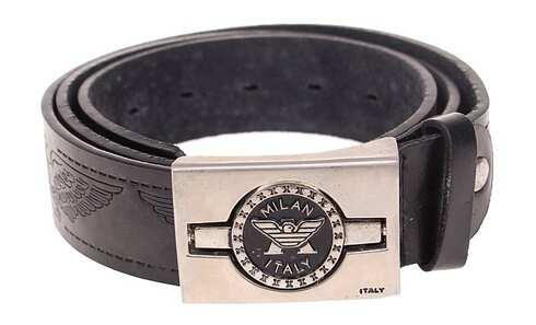 obrázek Kožený pásek černý var.86