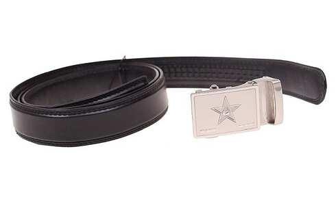obrázek Kožený pásek černý var.90