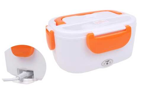 obrázok Elektrická krabička na jedlo oranžová
