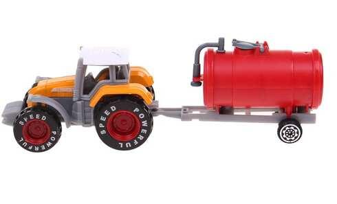 obrázek Traktor s návěsem žlutý