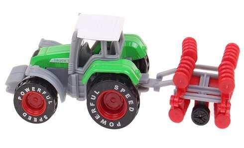 obrázek Traktor s návěsem zelený