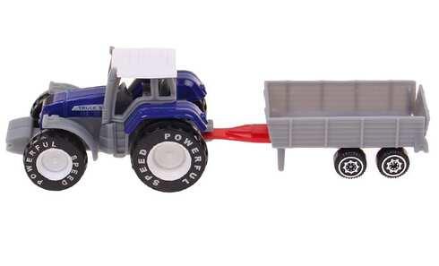 obrázok Traktor s návesom modrý
