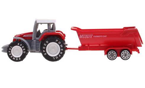 obrázok Traktor s návesom červený