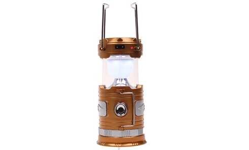 obrázok Solárne kempingový lampáš BF-3586 zlatá