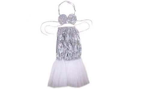 obrázek Kostým mořská panna stříbrný