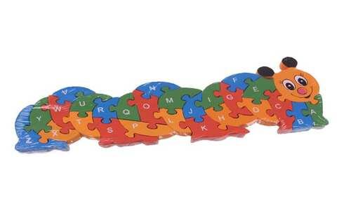 obrázek Vzdělávací dřevěné puzzle housenka