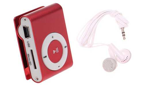 obrázek Kompaktní MP3 přehrávač červený