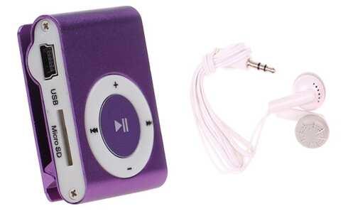 obrázok Kompaktný MP3 prehrávač fialový