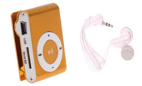 obrázek Kompaktní MP3 přehrávač oranžový