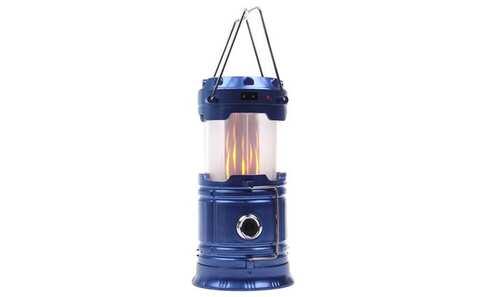 obrázok Solárne kempingový lampáš LL-5888 modrá