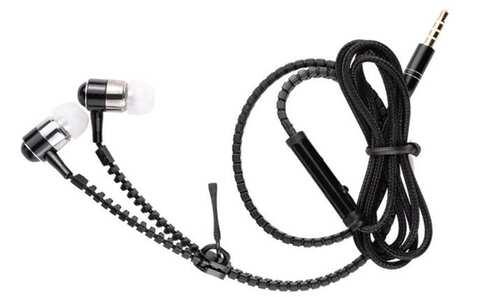 obrázek Zipová sluchátka černá