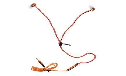 obrázek Zipová sluchátka oranžová