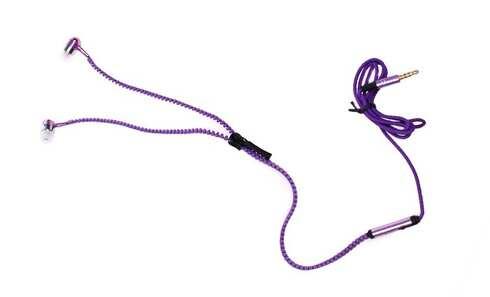 obrázek Zipová sluchátka fialová