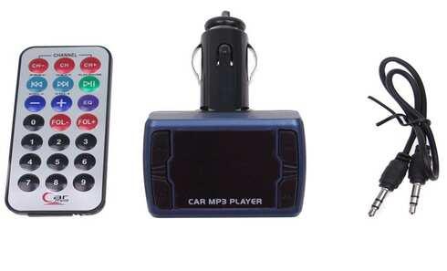 obrázok Bluetooth handsfree do auta s ovládačom modré