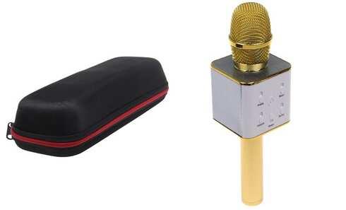 obrázok Karaoke mikrofón Q7 s puzdrom zlatý