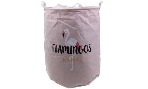 obrázok Kôš na bielizeň ružový Flamingos