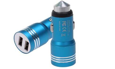 obrázek USB nabíječka do auta modrá