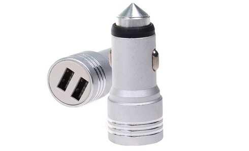 obrázek USB nabíječka do auta stříbrná