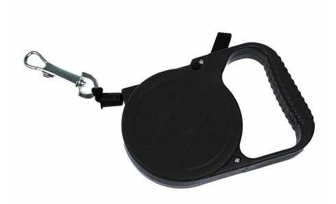 obrázok Navíjacie vodítko pre psy čierne