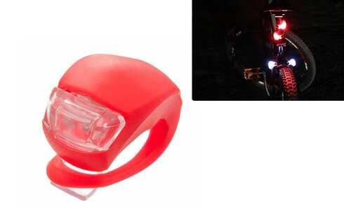obrázok LED svetlo na bicykel červené