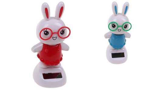 obrázok Solárne tancujúce dekorácie zajačik s okuliarmi