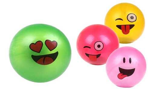 obrázek Gumový míč smajlík mix