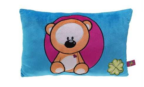 obrázek Barevný polštářek s medvídkem