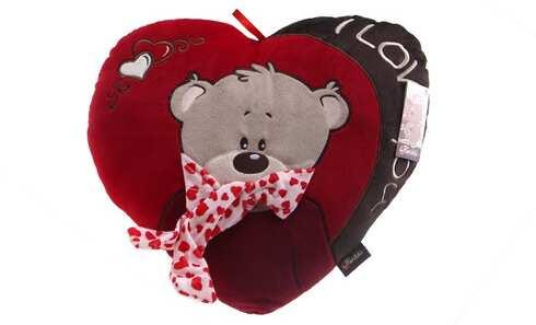 obrázok Červený vankúšik srdce