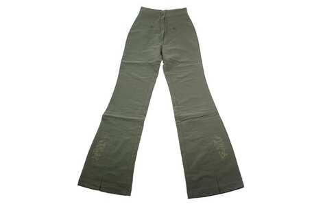 obrázek Dětské zvonové kalhoty zelené