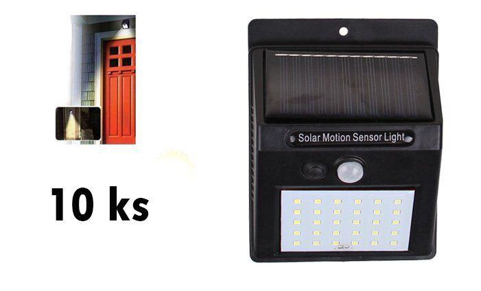 Solární světlo s detektorem pohybu 25 LED 10 ks